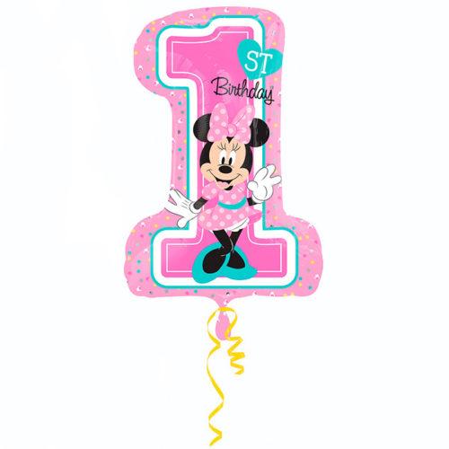 Шар 71 см Фигура Минни 1й День рождения