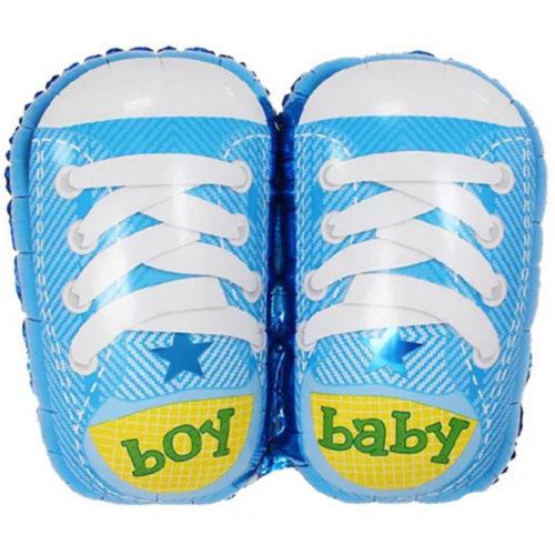 Шар 74 см Фигура Ботиночки для мальчика Голубой