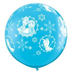 Шар 90 см Disney Холодое Сердц Голубой Пастель