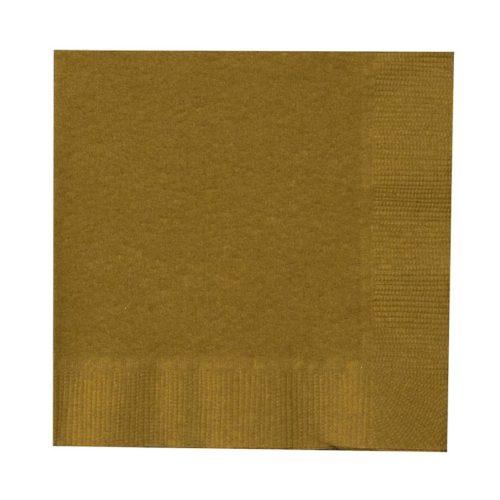 Салфетки 33 х 33 см Золото 20 шт