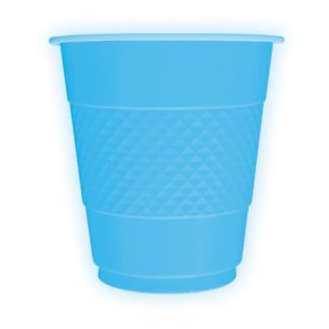 Стаканы пластиковые 210 мл Делюкс Голубые 10 штук