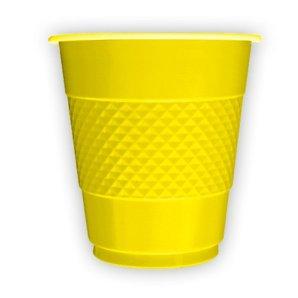 Стаканы пластиковые 210 мл Делюкс Желтые 10 штук