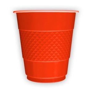 Стаканы пластиковые 210 мл Делюкс Красные 10 штук
