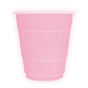 Стаканы пластиковые 210 мл Делюкс Розовый 10 штук