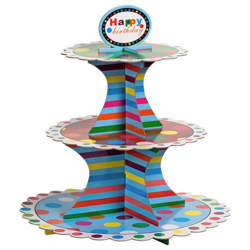 Стойка для десертов Разноцветные круги