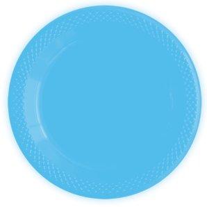 Тарелки пластиковые 15 см Делюкс Голубые 10 штук