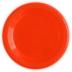 Тарелки пластиковые 15 см Делюкс Красные 10 штук