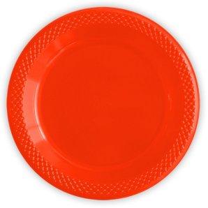 Тарелки пластиковые 23 см Делюкс Красные 10 штук