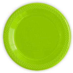 Тарелки пластиковые 23 см Делюкс Лайм 10 штук