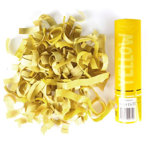 Пневмохлопушка 20 см Желтое конфетти