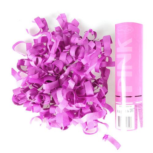 Пневмохлопушка 20 см Розовое конфетти
