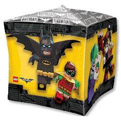 Шар 38 см 3D Куб Лего Бэтмен