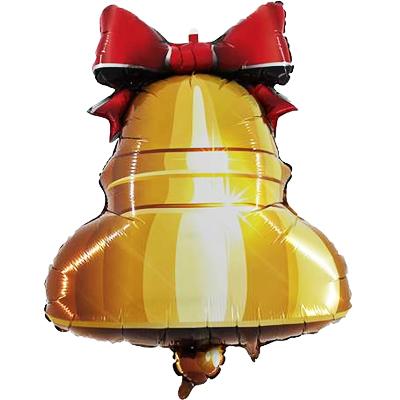Шар 58 см Фигура Колокольчик с ленточкой
