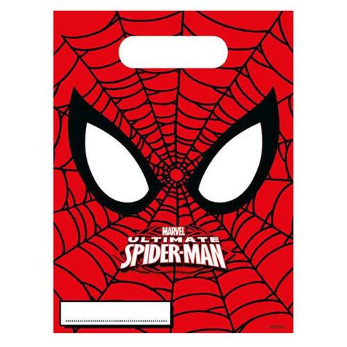Пакеты подарочные 17 х 23 см Человек-Паук Супер сила 6 штук