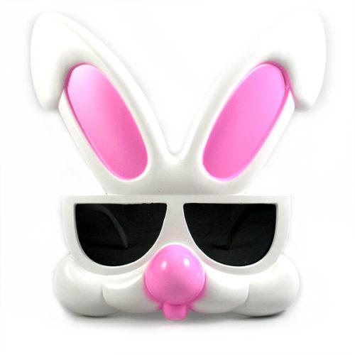 Прикольные очки Кролик розовые уши