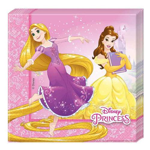 Салфетки 33 х 33 см Принцессы Дисней Сердечные истории 20 штук