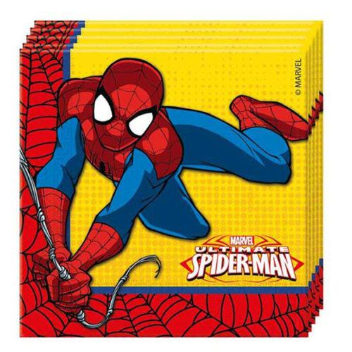Салфетки 33 х 33 см Человек-Паук Супер сила 20 штук