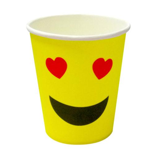 Стаканы 180 мл Смайл влюбленный желтый 6 шт
