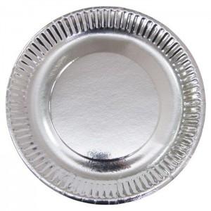 Тарелки 23 см Серебро 6 шт