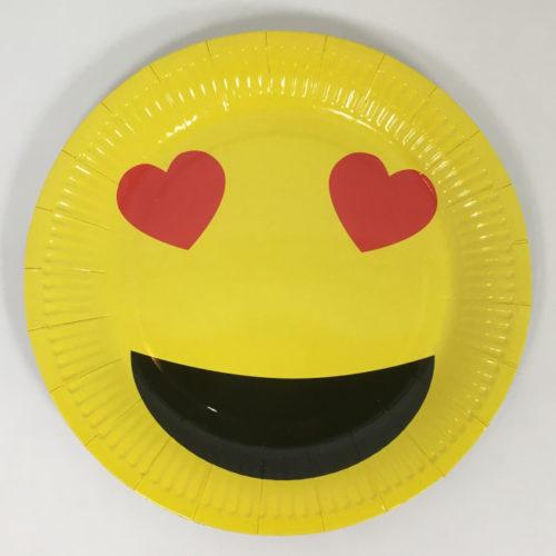 Тарелки 23 см Смайл влюбленный Желтый 6 шт