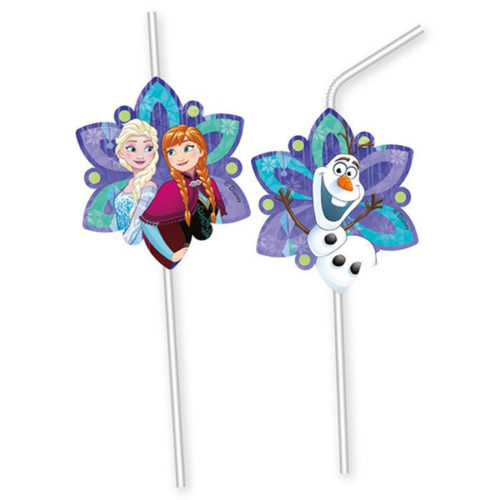 Трубочки для коктейля Холодное сердце Торжество снежки 6 штук