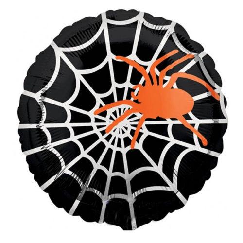 Шар 46 см Круг Паук оранжевый