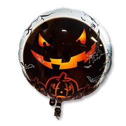 Шар 62 см Круг с подсветкой Хеллоуин