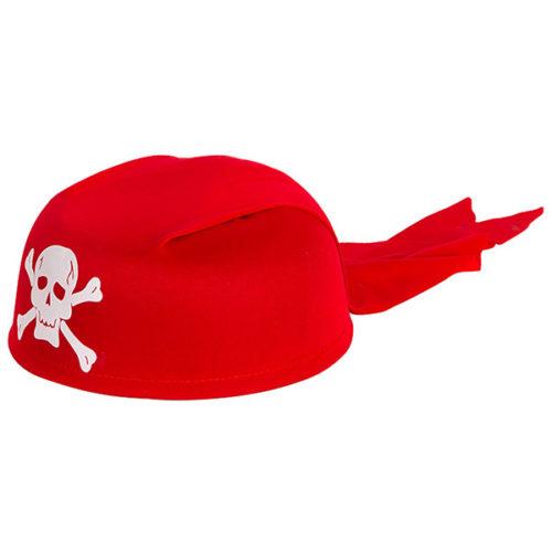 Шляпа Бандана Череп красная
