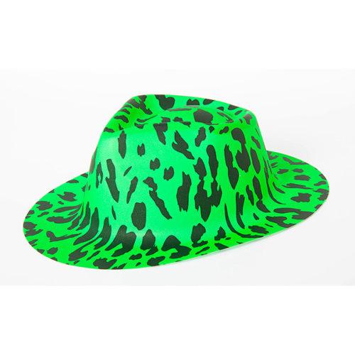 Шляпа Леопард Зеленая