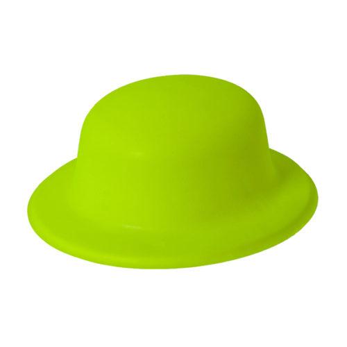 Шляпа Неон Желтая круглая