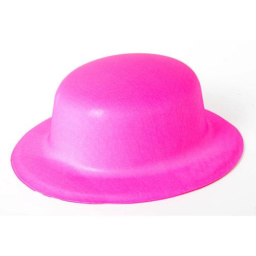 Шляпа Неон Розовая круглая