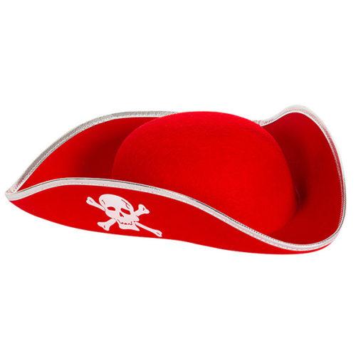Шляпа Пирата красная