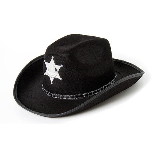 Шляпа Шериф черная