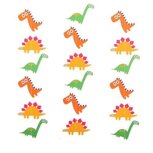 Гирлянда вертикальная Динозаврики 100 см 3 шт