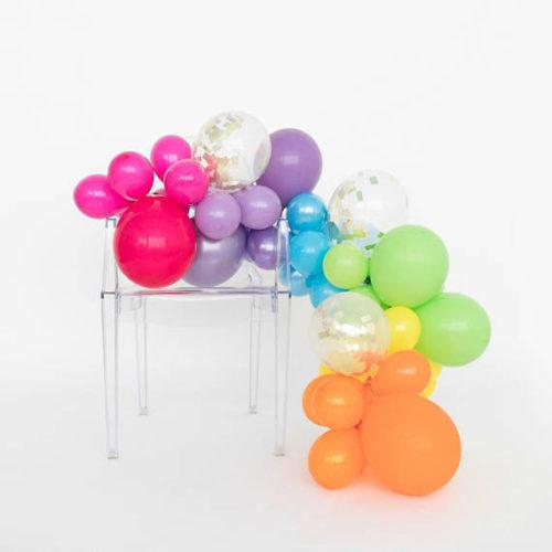 Гирлянда из разных шариков цвета яркие асорти 2 метра-1