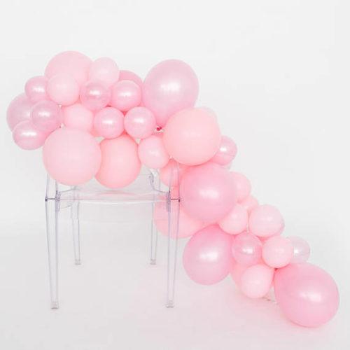 Гирлянда из разных шариков цвет нежно-розовый 2 метра