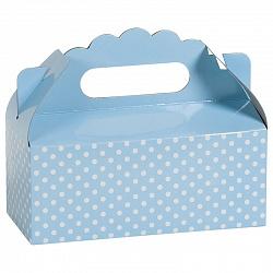 Коробка для пирожных Точки Голубой 1 шт