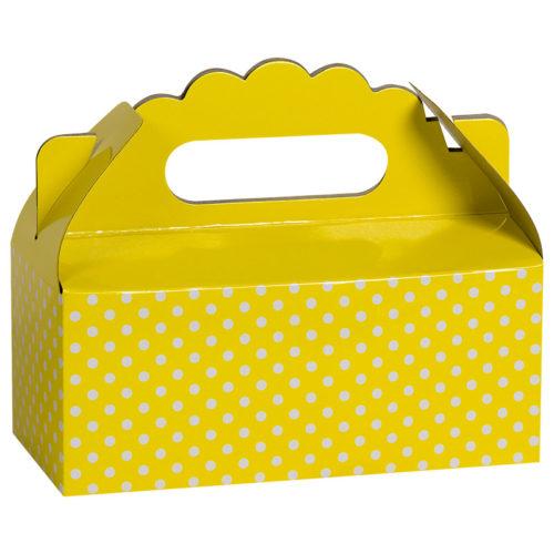 Коробка для пирожных Точки Желтый 1 шт