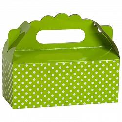Коробка для пирожных Точки Зеленый 1 шт