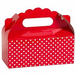 Коробка для пирожных Точки Красный 1 шт