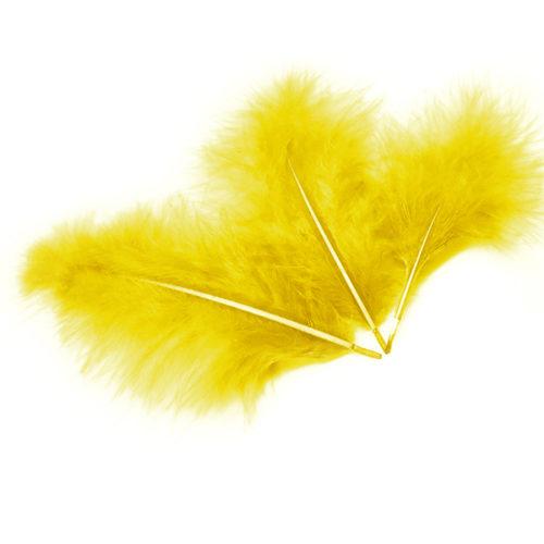 Перья Желтые 30 шт