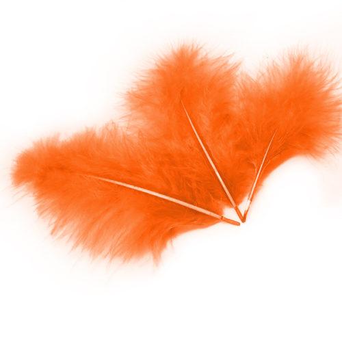 Перья Оранжевые 30 шт