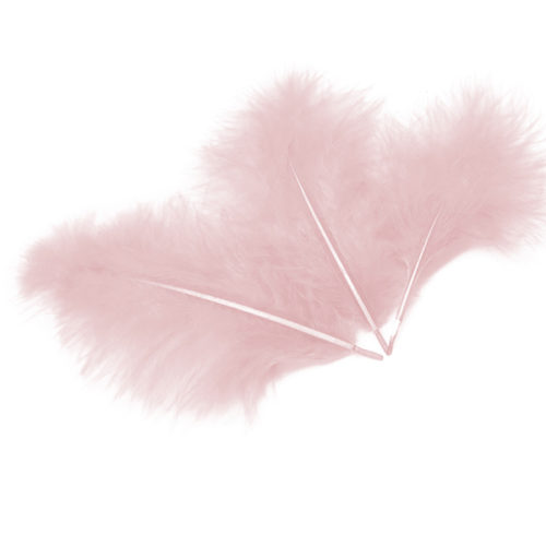 Перья Светло-розовые 30 шт
