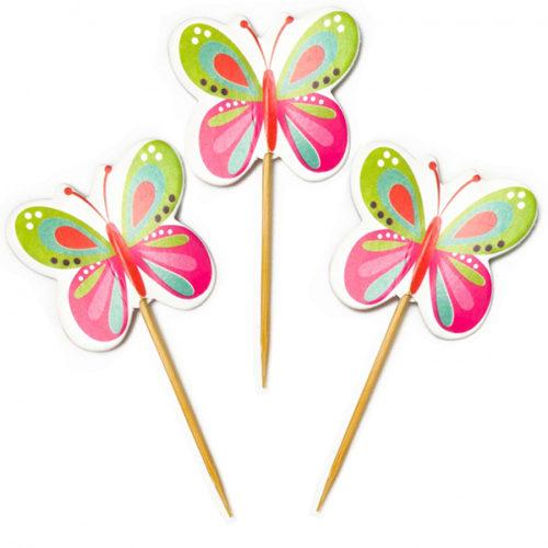 Пики для канапе Бабочки 20 шт