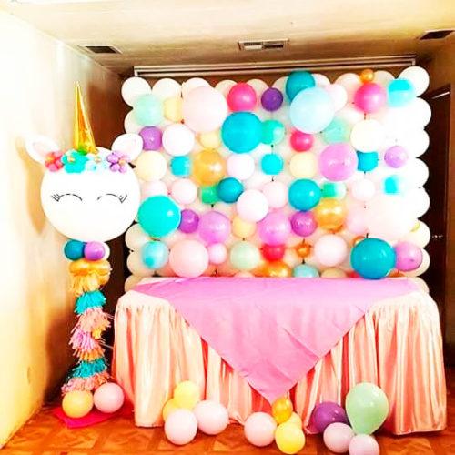 Стена из воздушных шаров для Кенди бара-или фотозоны с волшебным Единорогом