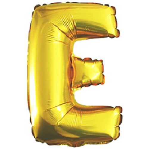 Шар 102 см Буква E Золото