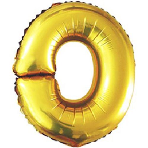 Шар 102 см Буква O Золото