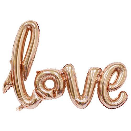 Шар 104 см Фигура Надпись Love Розовое Золото