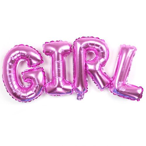 Шар 112 см Фигура Надпись Girl Розовый