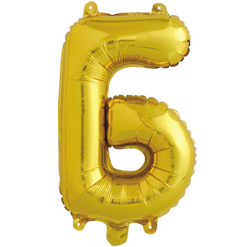 Шар 41 см Буква Б Золото